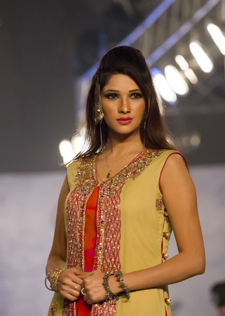 finale: Lahore, Pakistan - April 4, 2013:  Models walk the runway finale during Lahore Fashion Week