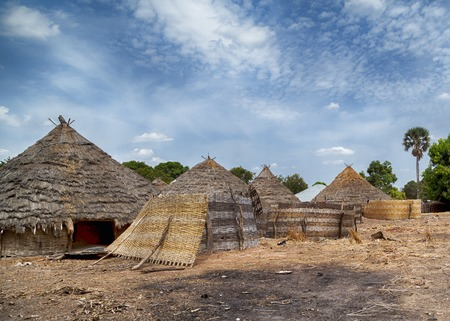 traditional african house in rural Guinea-Bissau Reklamní fotografie