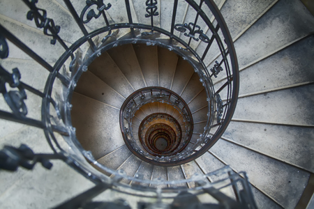 straight down view of a winding staircase Reklamní fotografie