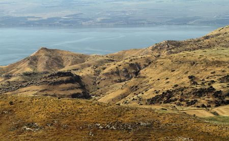 Panoramic view Sea of Galilee, kineret north of Israel photo