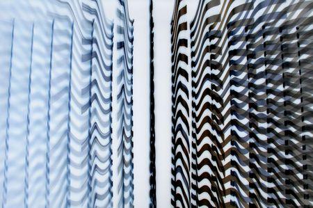 blue wavy texture Stock Photo
