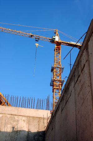 site in opbouw Stockfoto