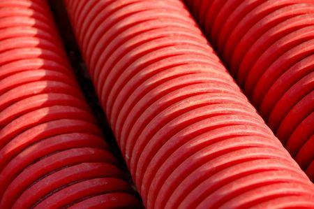 rode buizen textuur Stockfoto