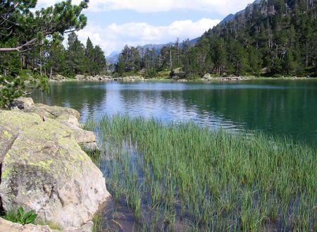 lake in spain natural reserve Stock Photo