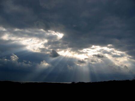 stormachtige wolken Stockfoto