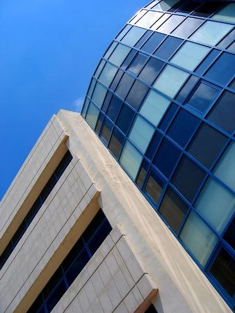 modern high hi-tech building Stock Photo