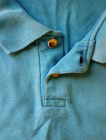 blauwe polo shirt