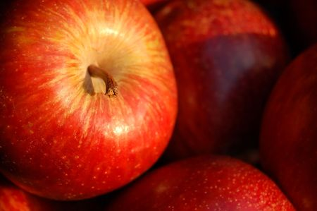 red apples close-up Stock Photo