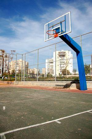 empty basketball court