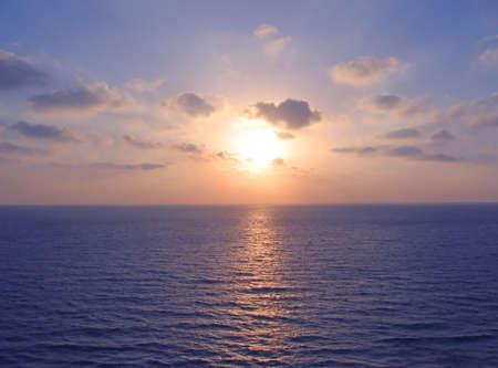zee zons ondergang  Stockfoto