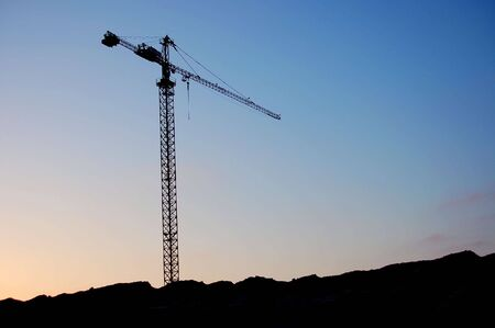 crane shadow