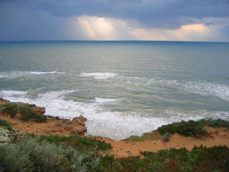 stormy sea landscape Stock Photo