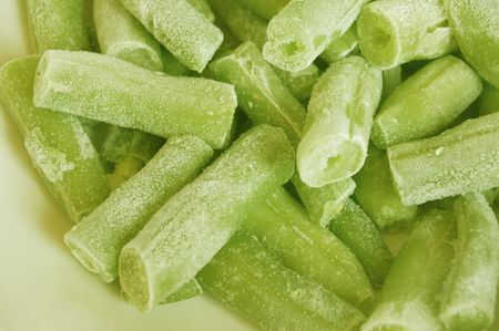 bevroren groene erwten Stockfoto