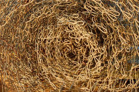 rolled metal net texture