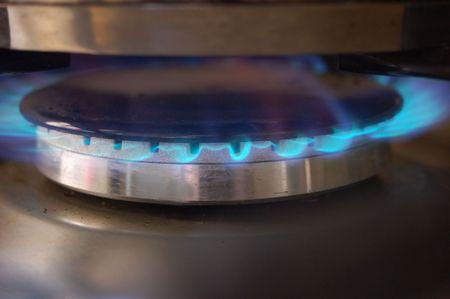 Vlammen van gaskachel