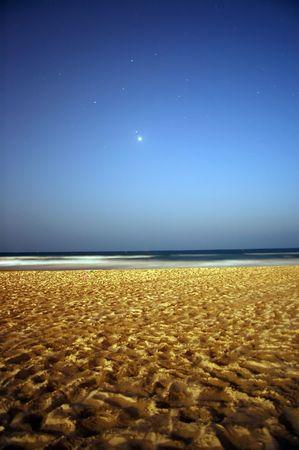 beach at night photo