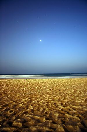 beach at night photo