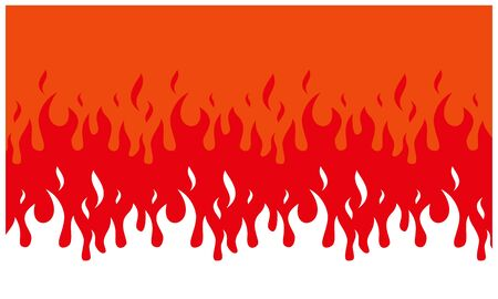 Fire flame background. fire banner. Vector illustration. 向量圖像
