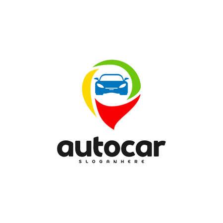 Car Point Logo Template Designs. Auto car logo point Reklamní fotografie - 150617545