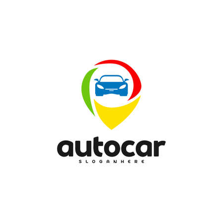 Car Point Logo Template Designs. Auto car logo point Reklamní fotografie - 150617551
