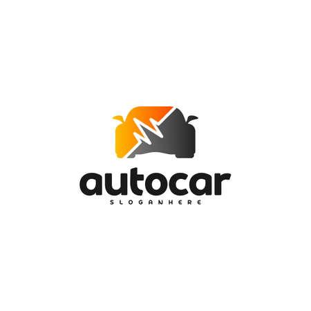 Car pulse logo template. Car Repair Logo Design Template. Auto car logo repair Ilustrace