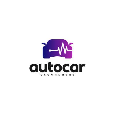 Car pulse logo template. Car Repair Logo Design Template. Auto car logo repair Reklamní fotografie - 150617557