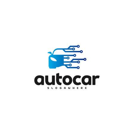 Car Tech Logo Template Design Vector. Auto car logo tech