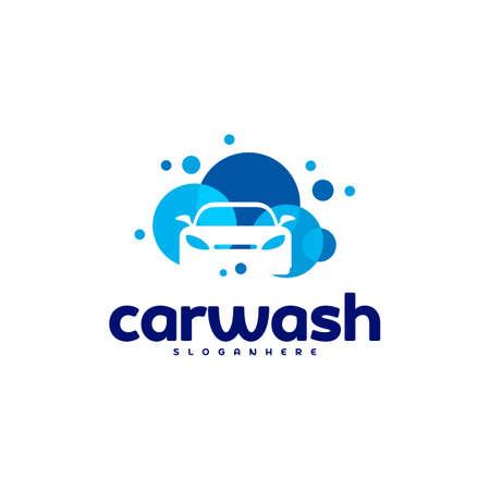 Car Wash Logo Template Designs Ilustrace
