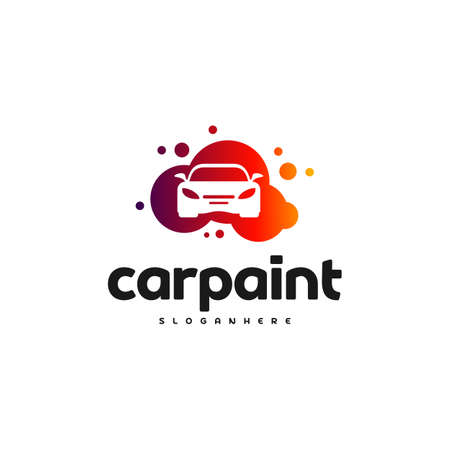 Car Paint Logo Template Design Vector. Car wash logo template