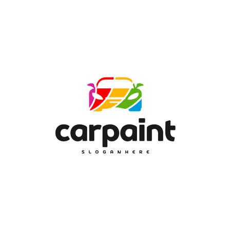 Car Paint Logo Template Design Vector Ilustrace
