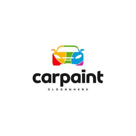 Car Paint Logo Template Design Vector Reklamní fotografie - 150617599