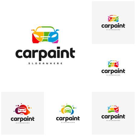 Set of Car Paint Logo Template Design Vector Ilustrace
