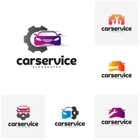 Set of Car Service Logo vector. Car Repair Logo Design Template