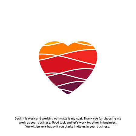 Love Heart Creative logo concepts, abstract colorful icons, elements and symbols, template - Vector 일러스트