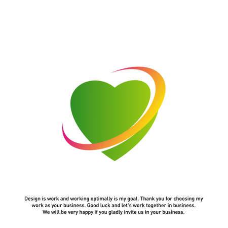 Love Heart Creative logo concepts, abstract colorful icons, elements and symbols, template - Vector 矢量图像