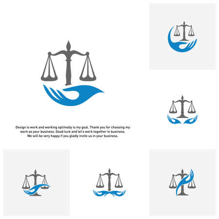 Set of Law Care Logo design template. Law Firm logo concepts. Attorney logo concepts Vector