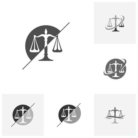 Set of Law Firm Logo design template. Scales logo concepts. Law firm logo vector