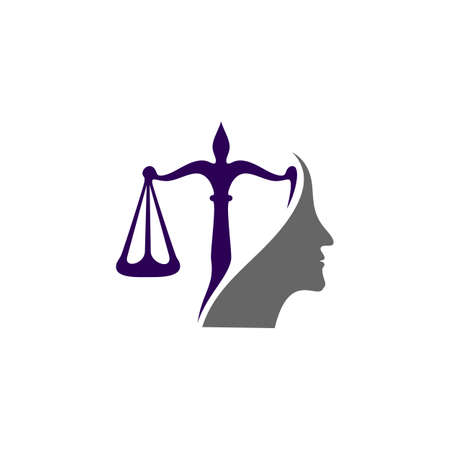 Law Firm with People Logo design template. Law Firm logo concepts. Attorney logo vector