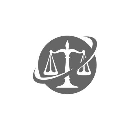Law Firm Logo design template. Scales logo concepts. Law firm logo vector Ilustrace
