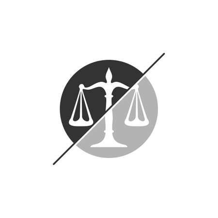 Law Firm Logo design template. Scales logo concepts. Law firm logo vector Ilustração