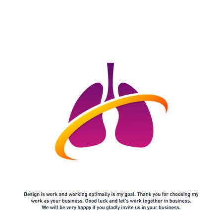 Lungs Care Logo Template Design Vector, Lungs health Design Concept,Creative, Icon - Vector Ilustrace