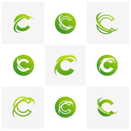 Letter C logo icon design template elements, Initial C logo design concept - Vector Ilustrace