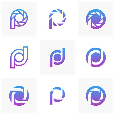 Letter P logo icon design template elements, Initial P logo concept - Vector