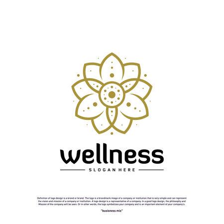 Wellness Logo Design Concept. Nature Leaf Logo Design Template Vector. Icon Symbol Logo