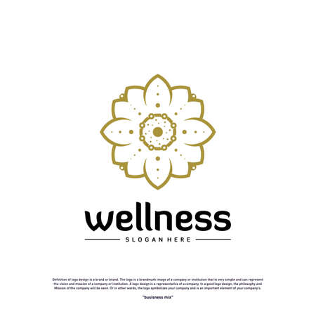 Wellness Logo Design Concept. Nature Leaf Logo Design Template Vector. Icon Symbol