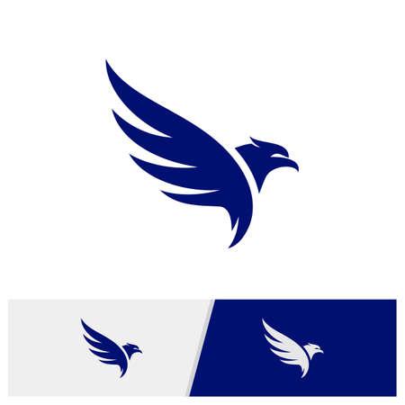 Eagle logo design vector. Simple Eagle logo template. Icon Symbol. Vector Illustration Logo