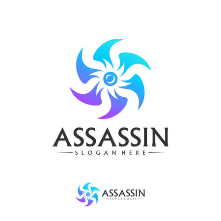 Shuriken Logo Design Vector Template, Assassin logo concept, Icon symbol