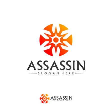 Shuriken Logo Design Vector Template, Assassin logo concept, Icon symbol Logo