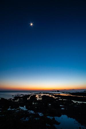 Sun set and Venus set