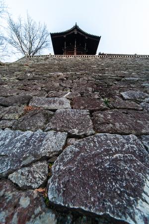 Hall and tall stone steps Banco de Imagens